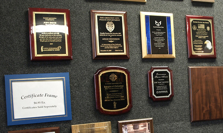 Multiple different plaques