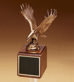 Finely Details Antique Bronze Eagle Casting