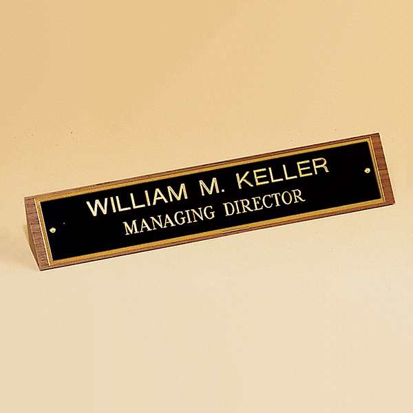 American Walnut Name Plate