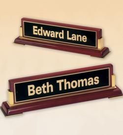 Rosewood Piano Finish Nameplate