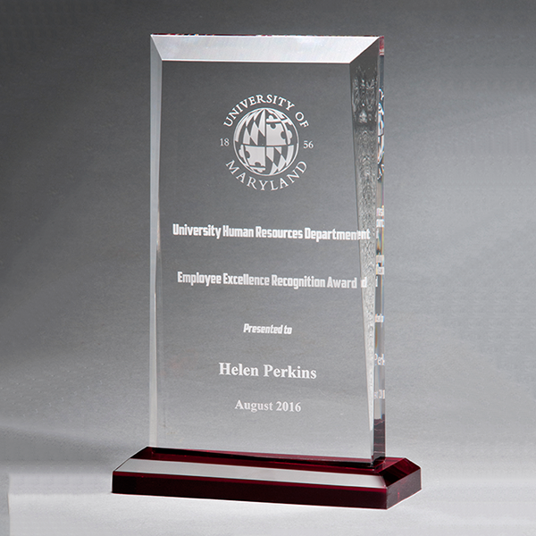 Apex Series Award with Red Highlights