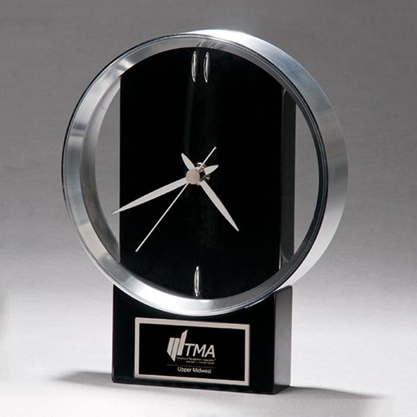 Black and Silver Modern Design Clock