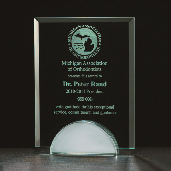 Apex Series Glass Award with Mirror Base