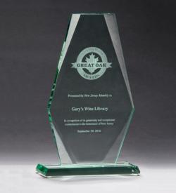 Premium Series Jade Glass Award