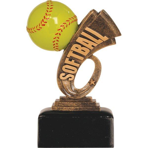 6 inch Softball Headline Resin