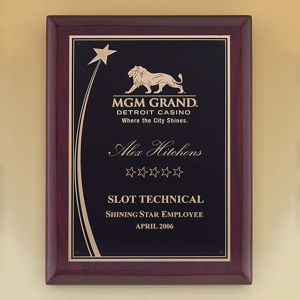 Shooting Star Rosewood Piano Finish Plaque