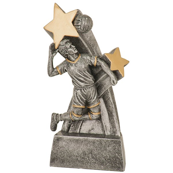 6 inch Male Volleyball Super Star Resin
