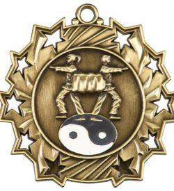 2 1/4 inch Martial Arts Ten Star Medal