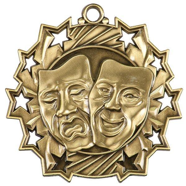2 1/4 inch Drama Ten Star Medal