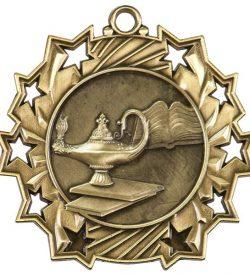 2 1/4 inch Graduate Ten Star Medal