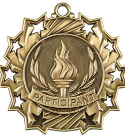 2 1/4 inch Participant Ten Star Medal
