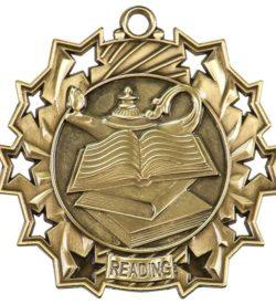 2 1/4 inch Reading Ten Star Medal