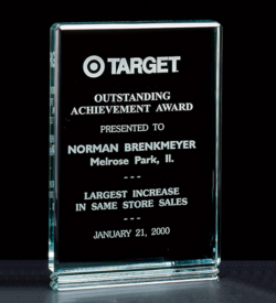 """Classic Series 1"""" Thick Free-standing Acrylic Award."""