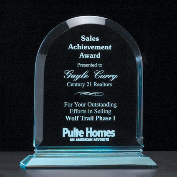 Arch Series Acrylic Award on Acrylic Base