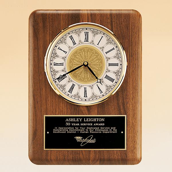 American Walnut Vertical Wall Clock.