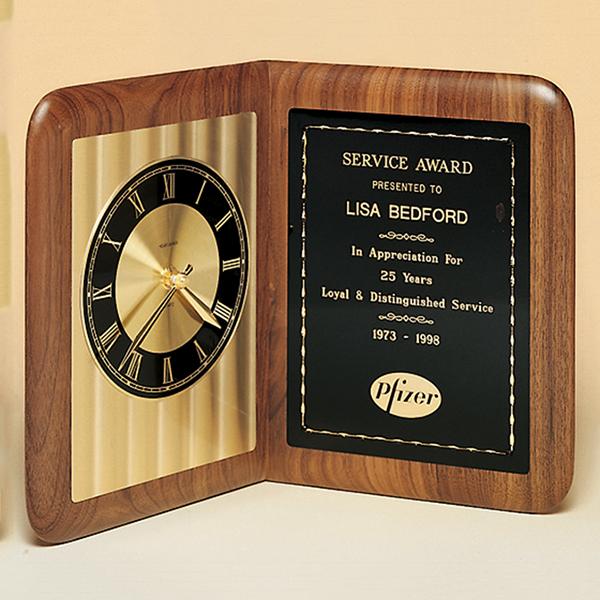 American Walnut Book Clock