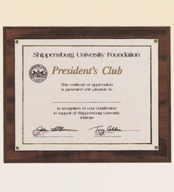 Photo or Certificate Plaque.