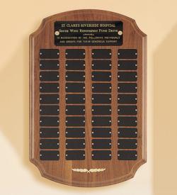 American Walnut Ornate Perpetual Plaque