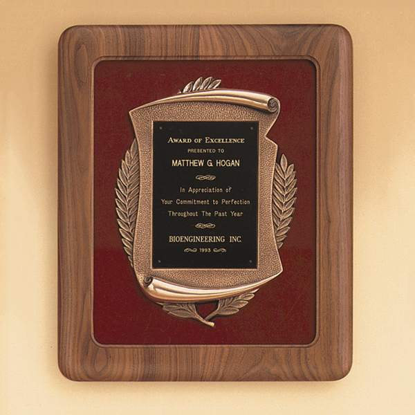 American Walnut Frame with Antique Bronze Casting