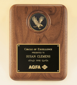 American Walnut Plaque with Eagle Medallion