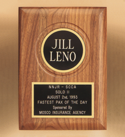 American Walnut Plaque with Routed Disk Area