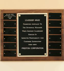 American Walnut Frame Perpetual Plaque