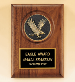 American Walnut Plaque with Eagle Casting