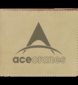 Light Brown Laserable Leatherette Bifold Wallet