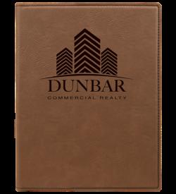 Dark Brown Laserable Leatherette Mini Portfolio with Notepad