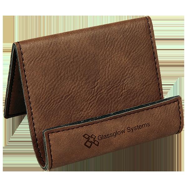 Dark Brown Laserable Leatherette Holder Easel