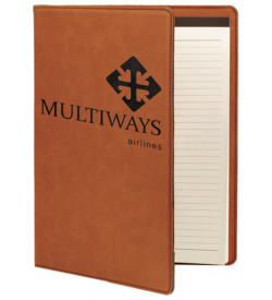 Rawhide Laserable Leatherette Portfolio with Notepad