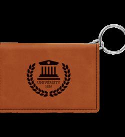 Rawhide Laserable Leatherette Keychain ID Holder