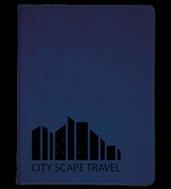 Blue Laserable Leatherette Portfolio with Notepad