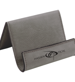 Gray Laserable Leatherette Holder Easel