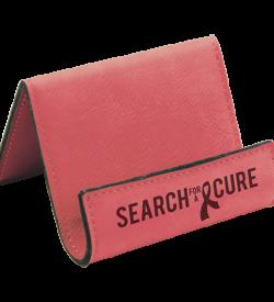 Pink Laserable Leatherette Holder Easel