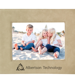 Light Brown Laserable Leatherette Picture Frame