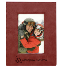Rose' Laserable Leatherette Picture Frame