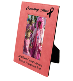 Pink Laserable Leatherette Picture Frame