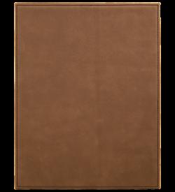 Dark Brown Laserable Leatherette Plaque