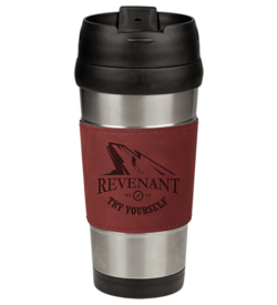 Rose' Laserable Leatherette Stainless Steel Travel Mug