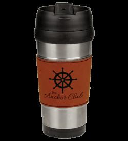 Rawhide Laserable Leatherette Stainless Steel Travel Mug