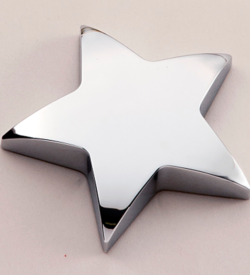 Chrome-Plated Star Paperweight