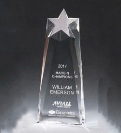 Star Trophy Carved from a Block of Crystal